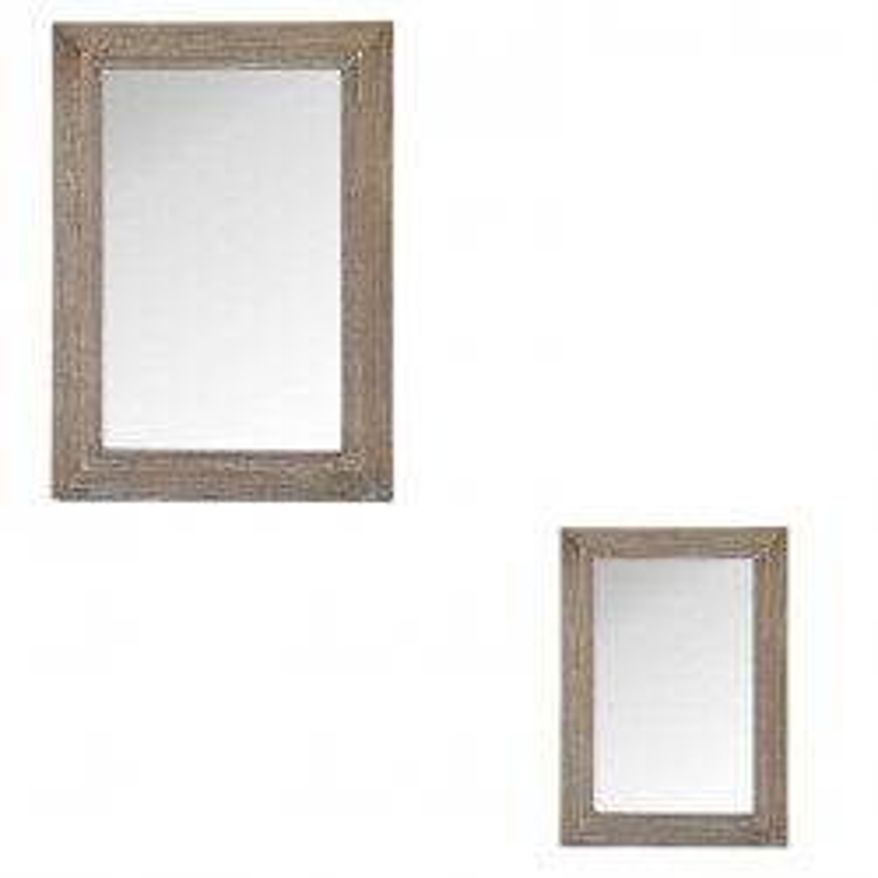 Duo de miroirs rectangulaires Bois taille M - KENCH
