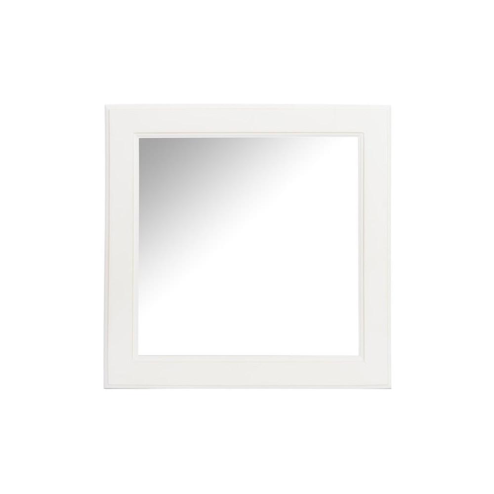 Miroir carré Bois blanc - ANIVIA