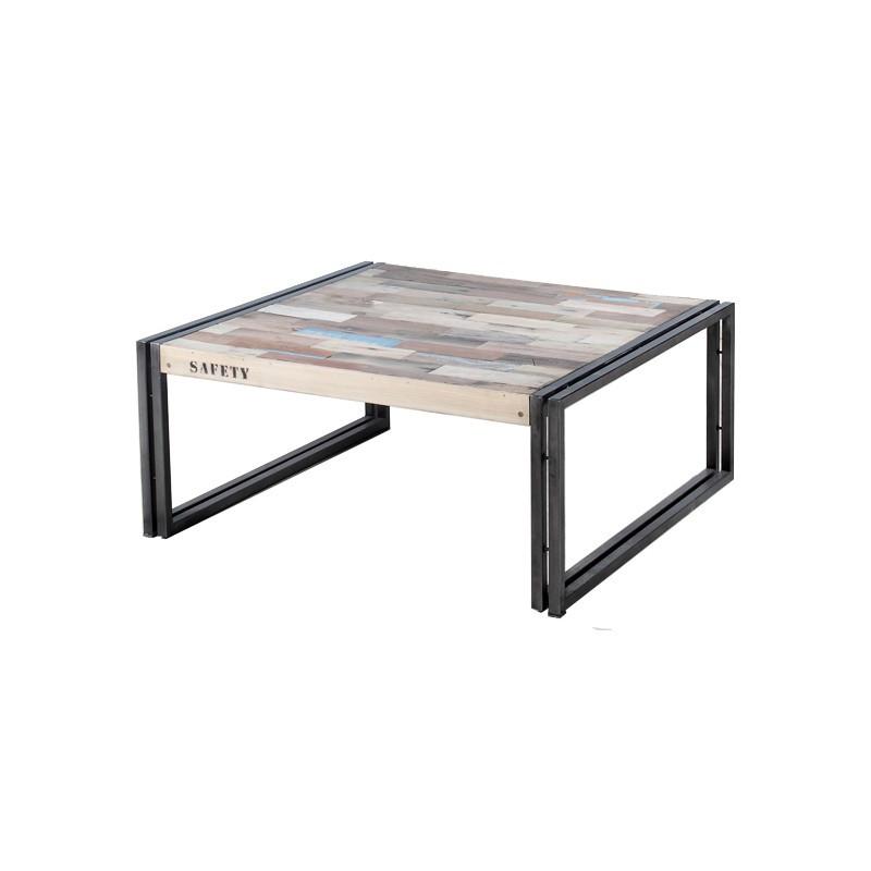 Table basse en bois 80 cm² - INDUSTRY