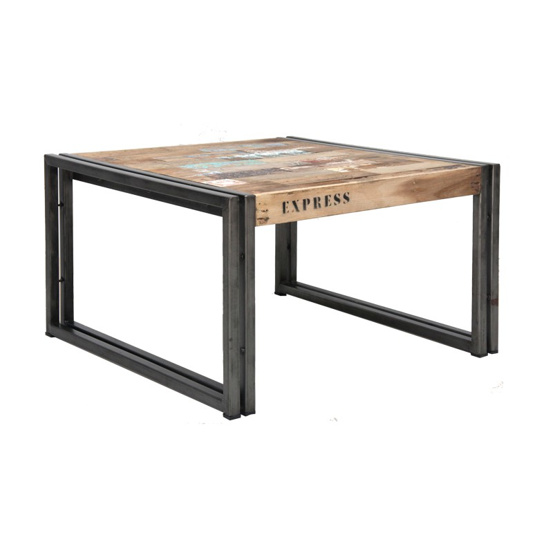 Table basse en bois 60 cm industry - Table basse en soldes ...
