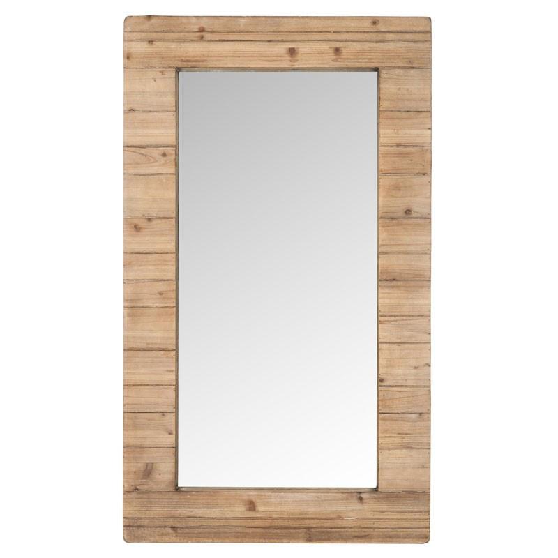 Miroir rectangulaire Bois naturel - WINRY