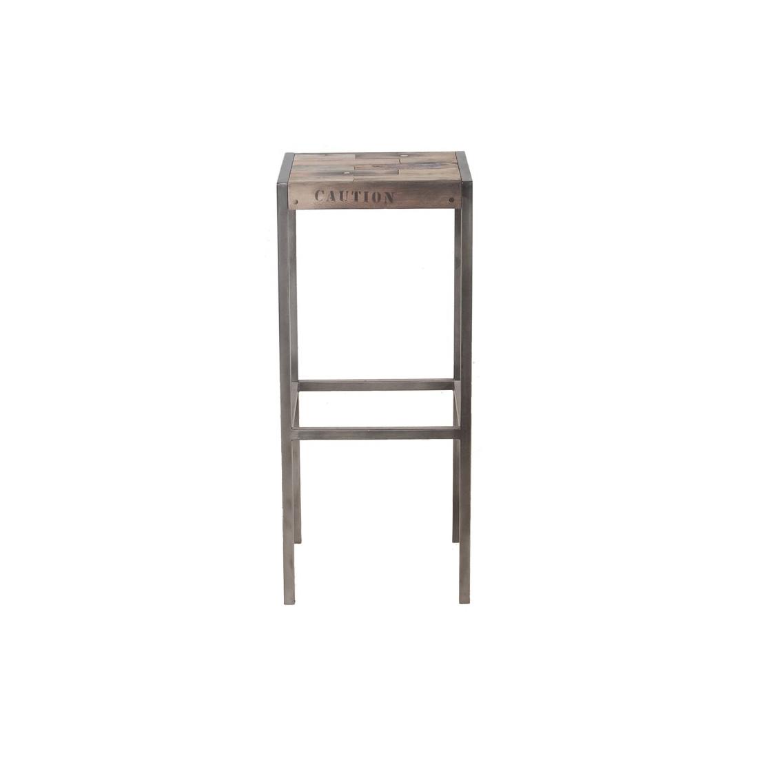 tabouret haut en bois univers du salon tousmesmeubles. Black Bedroom Furniture Sets. Home Design Ideas