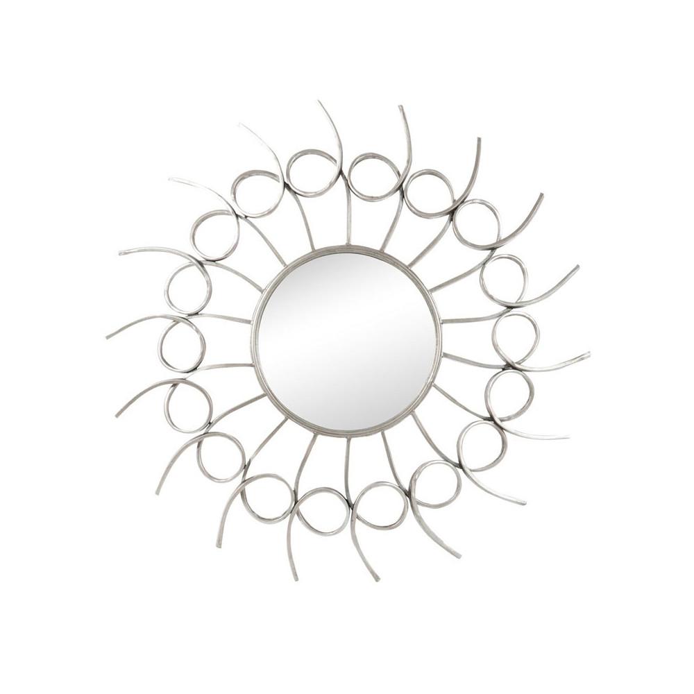 Miroir soleil Métal argenté - SOLF