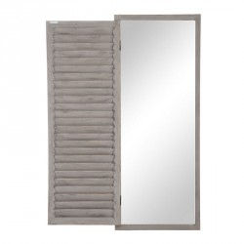 Miroir 1 volet Bois gris - DIETER