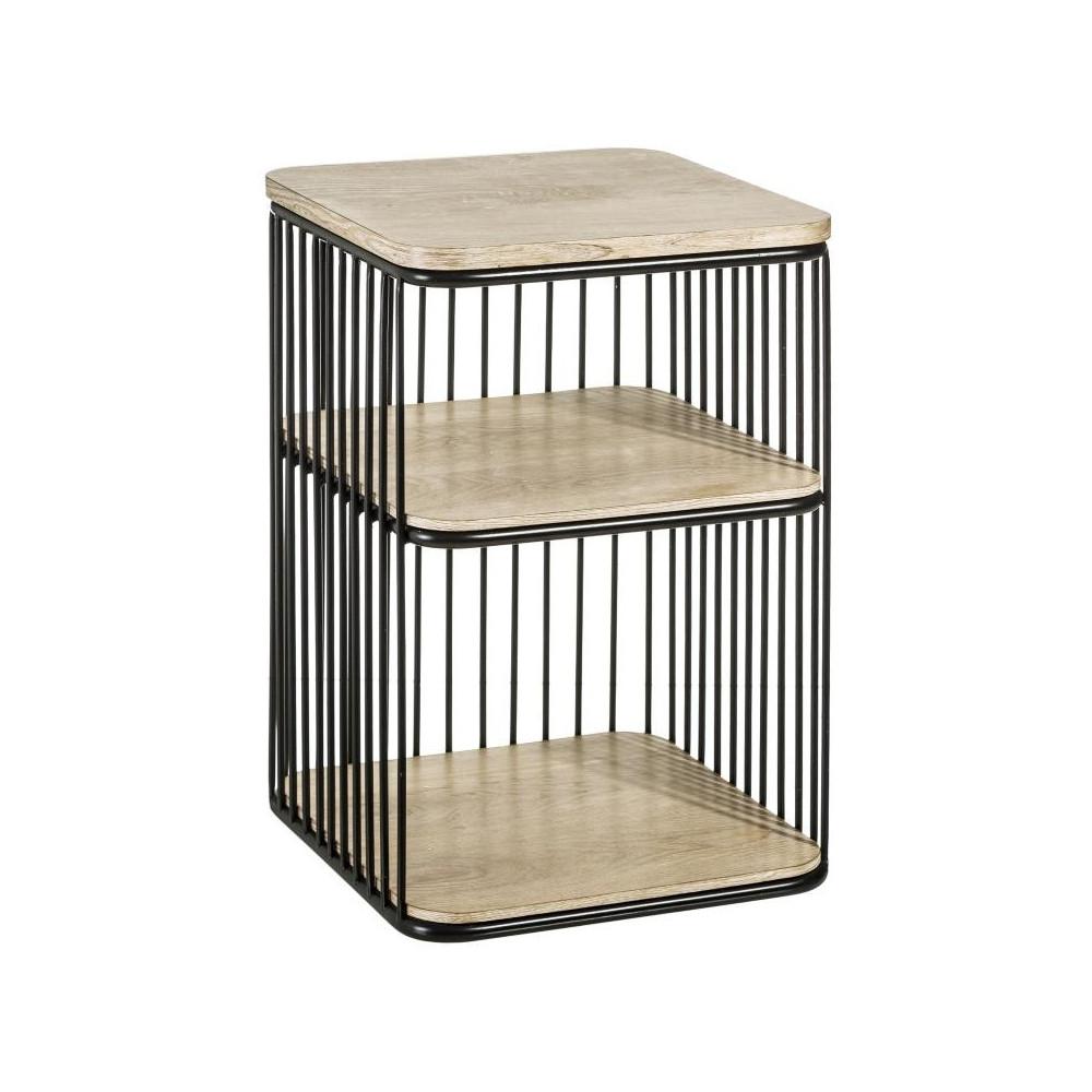 Table d'appoint 1 étagère Bois/Métal - BRUTUS n°3