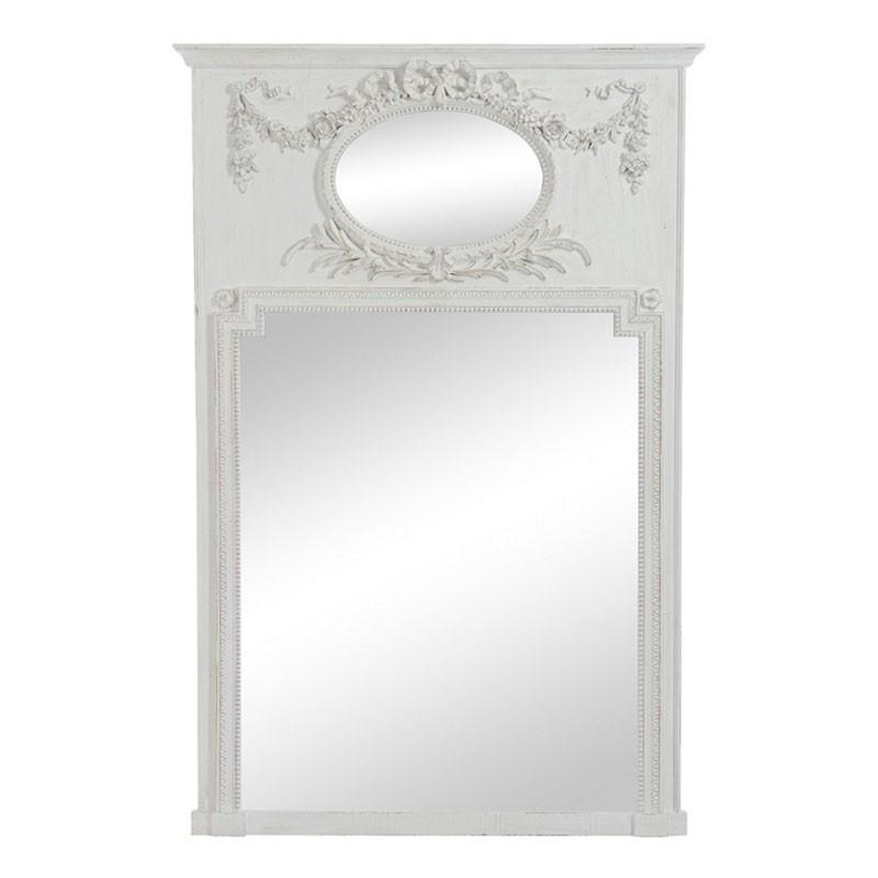 Miroir ovale/rectangulaire Bois gris - KALMIE