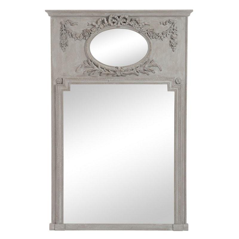 Miroir ovale/rectangulaire Bois taupe - KALMIE