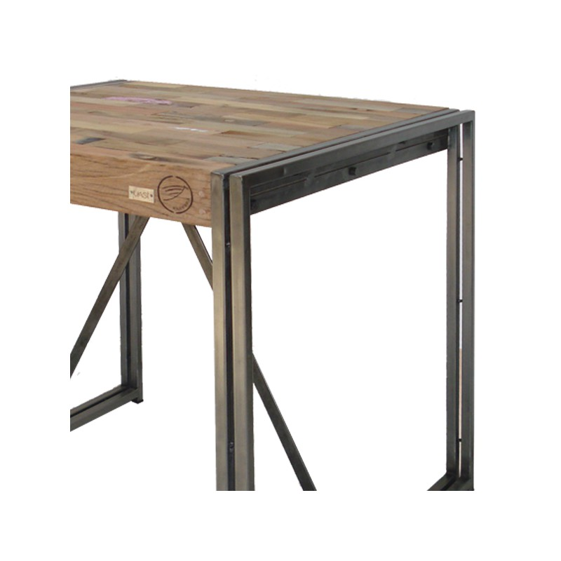Table mange debout 100 cm industry univers du salon tousmesmeubles - Mange debout bois metal ...