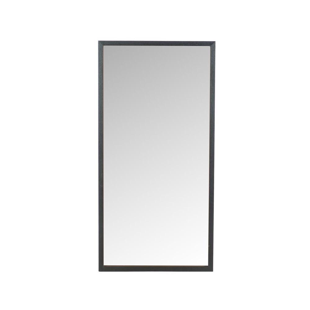 Miroir rectangulaire Bois noir taille M - ELONA