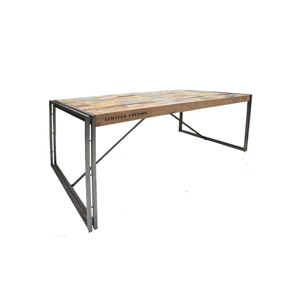 Table en bois rectangle 200 cm - INDUSTRY