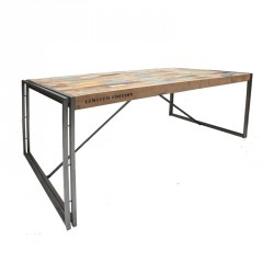 Table de repas en bois rectangle 175 cm - INDUSTRY