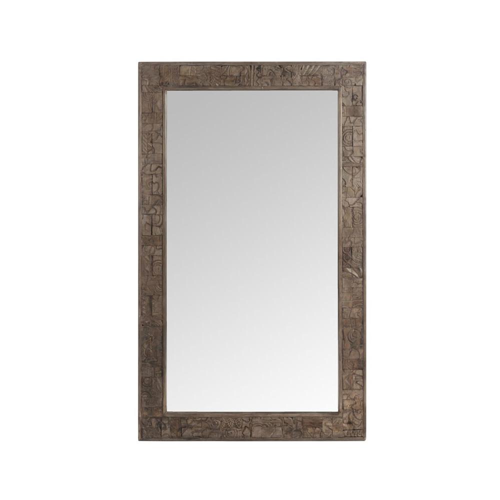 Miroir rectangulaire Bois naturel - JIBRIL