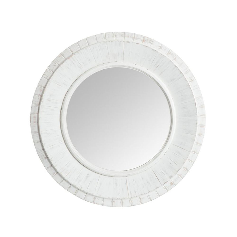 Miroir rond Bois blanc - OERBA