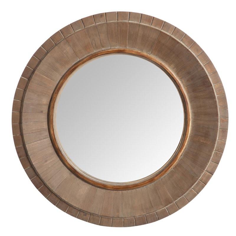 Miroir rond Bois naturel - OERBA