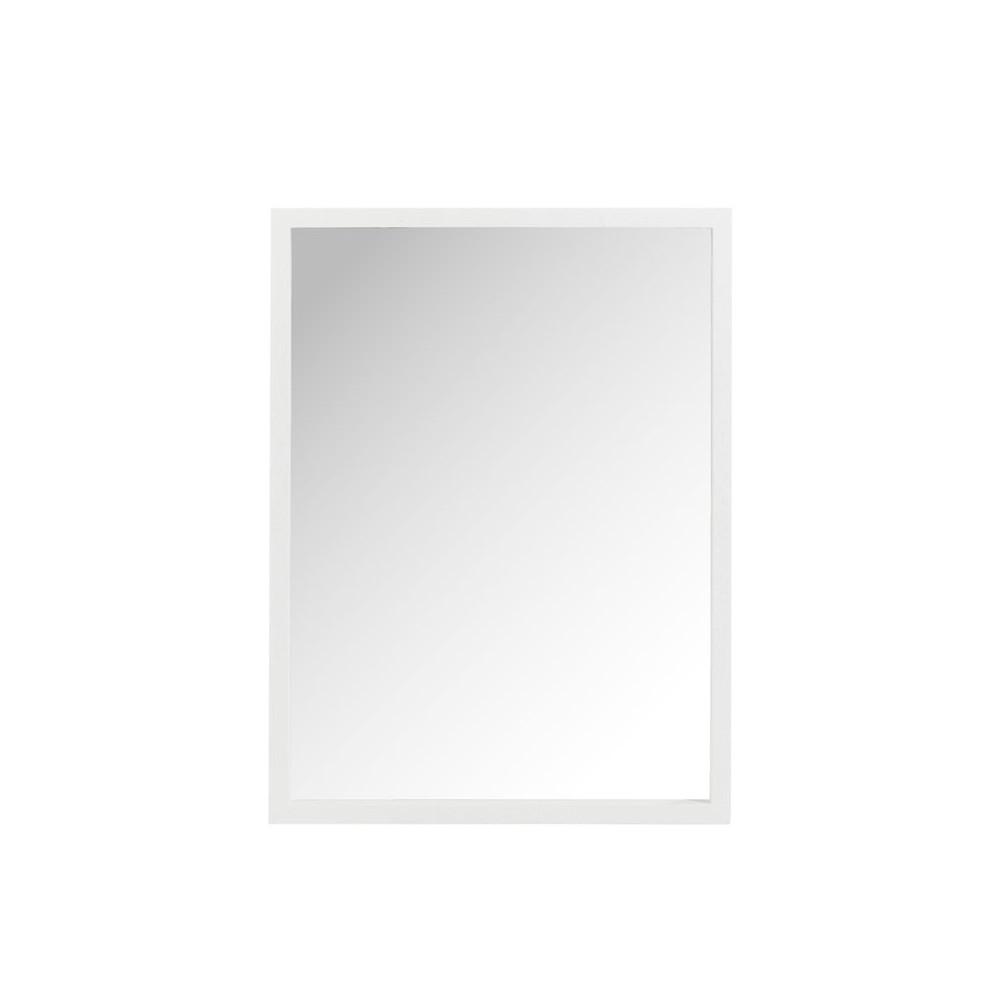 Miroir rectangulaire Bois blanc taille S - SORA