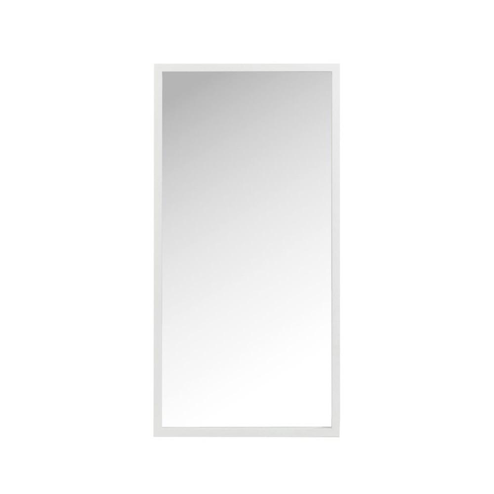 Miroir rectangulaire Bois blanc taille M - SORA