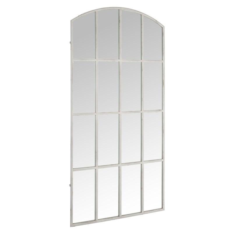 Miroir fenêtre arrondie Métal blanc - ARCA