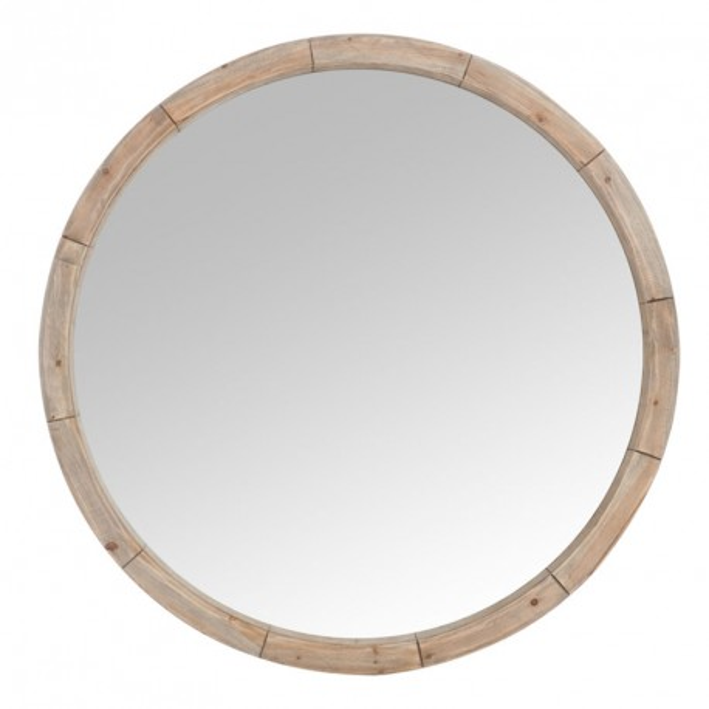 Miroir rond Bois naturel taille M - EMBRUN