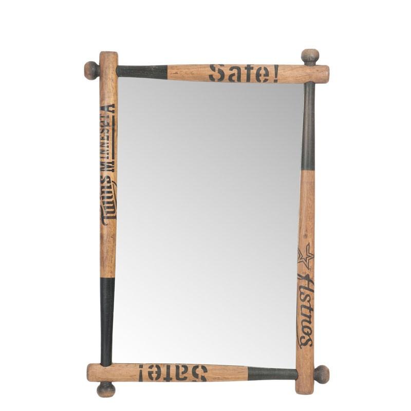 Miroir battes baseball Chêne marron - AHBRAM