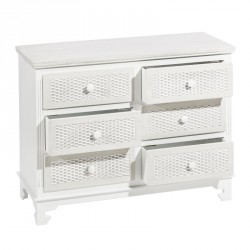 Commode 6 tiroirs Blanc - PURIA
