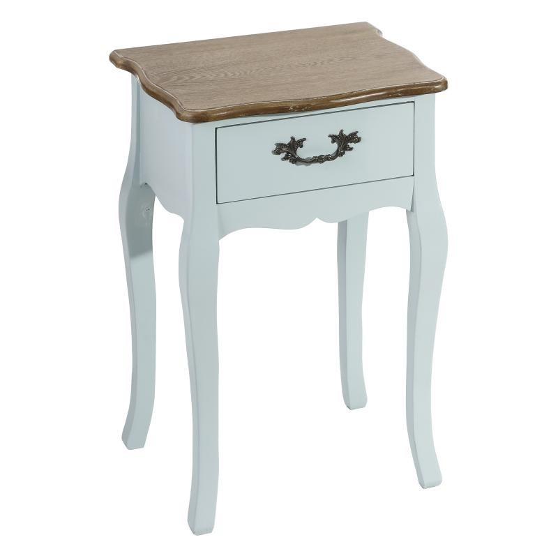 Table de chevet 1 tiroir Bois Bleu - APRIL