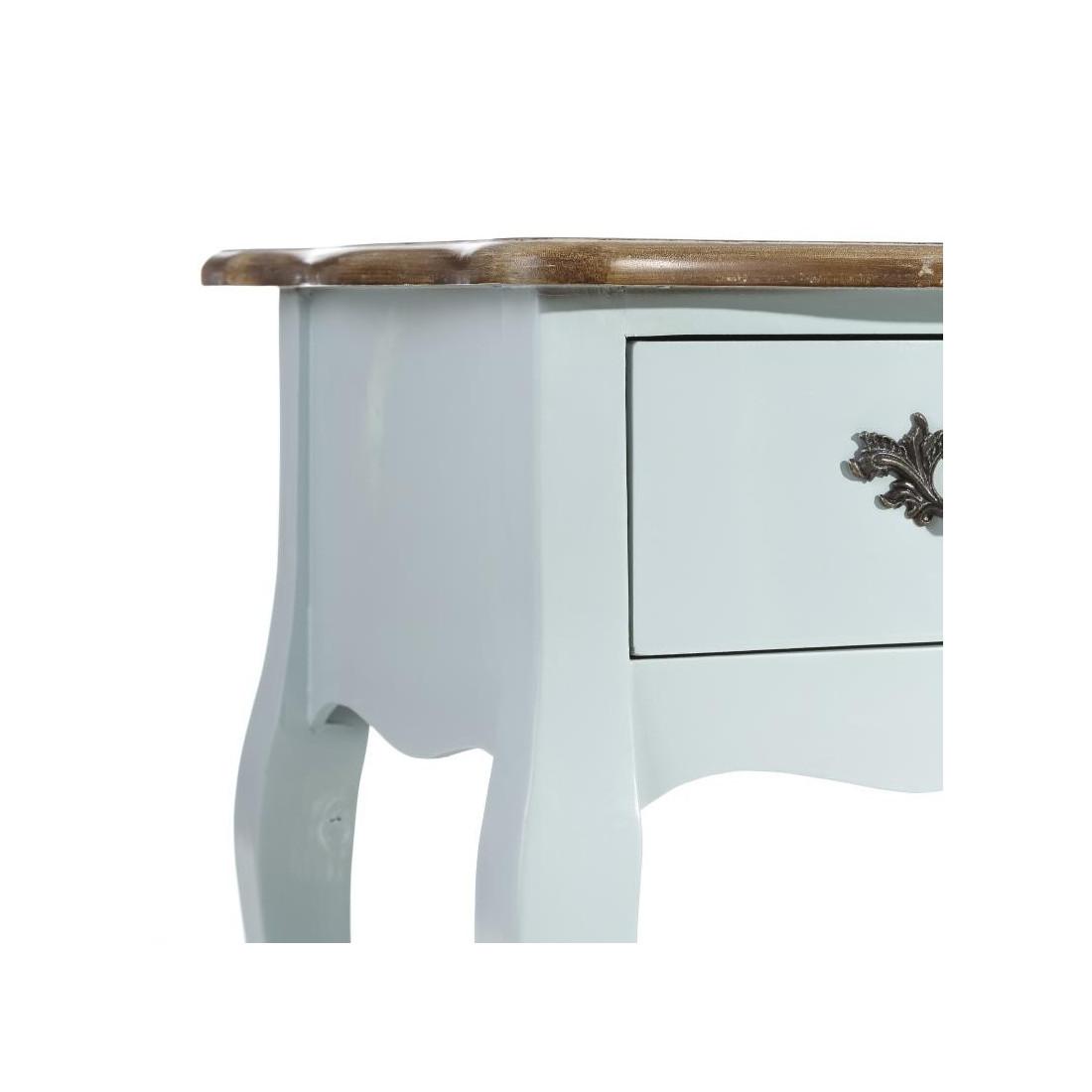 table de chevet 1 tiroir bois bleu clair april univers. Black Bedroom Furniture Sets. Home Design Ideas