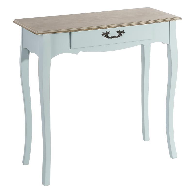 Console 1 tiroir Bois Bleu - APRIL