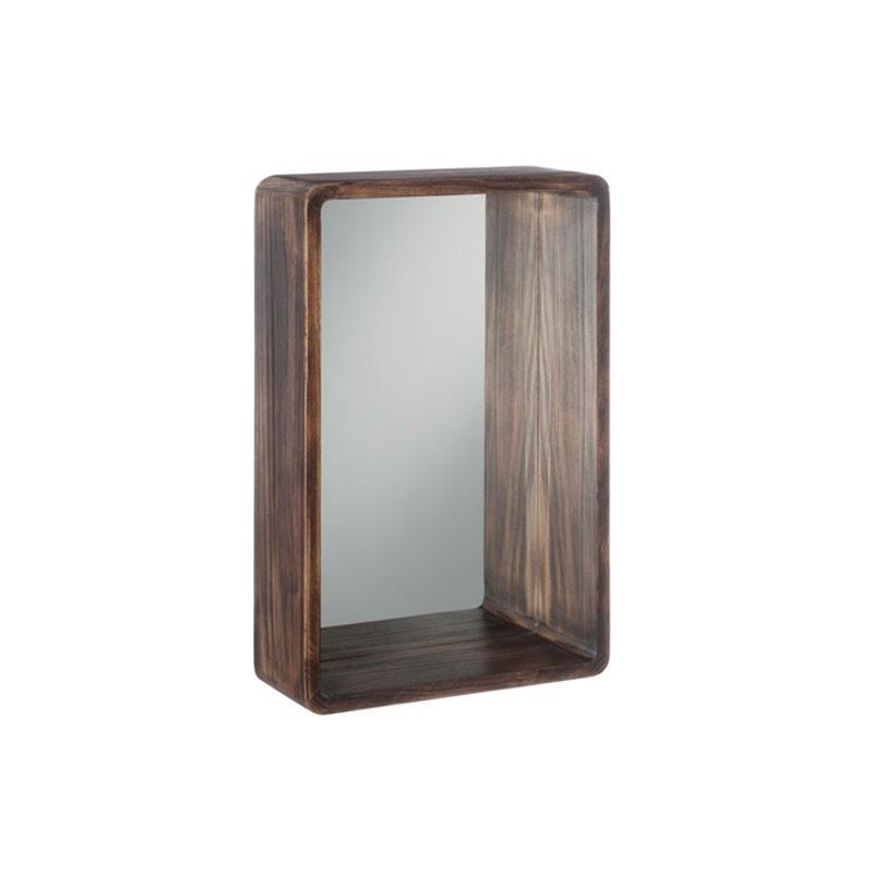 Miroir rectangulaire Bois marron Taille S - SURRY