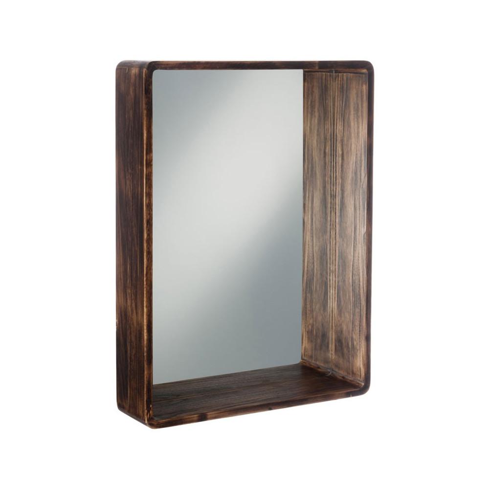 Miroir rectangulaire Bois marron Taille M - SURRY