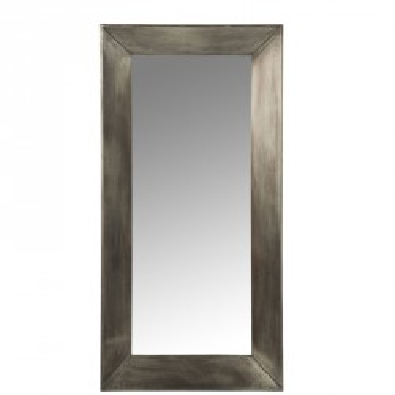 Miroir rectangulaire Bois/Métal gris - CREIL