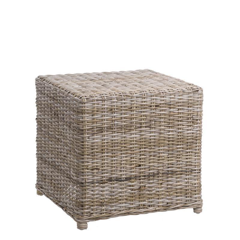 Table d'appoint en bois et rotin - TANAR