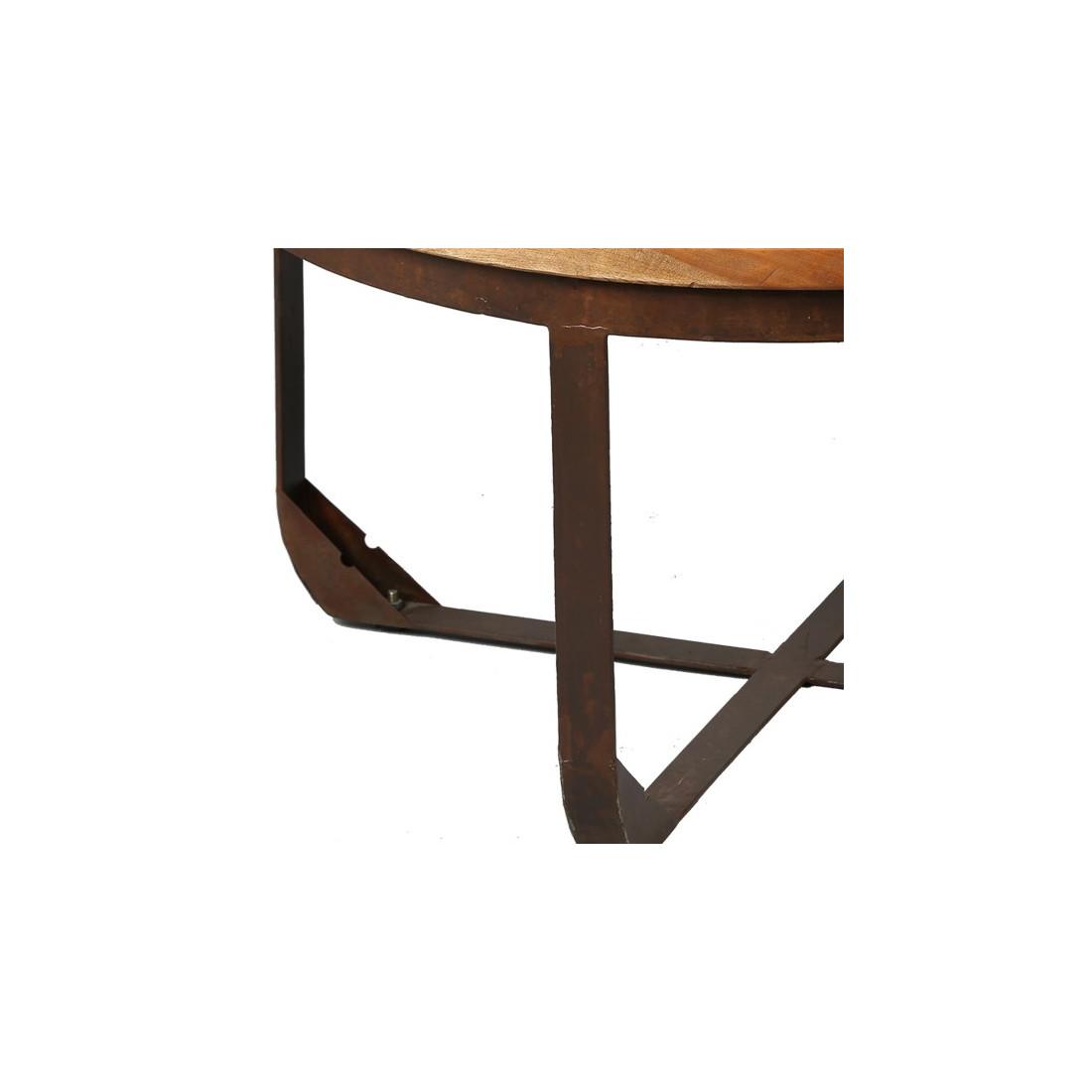 Table Basse En Bois Et Métal Tons Univers Salon Tousmesmeubles