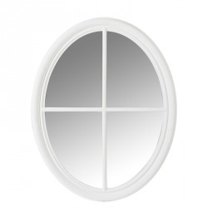 Miroir ovale Bois blanc - SYMETRA