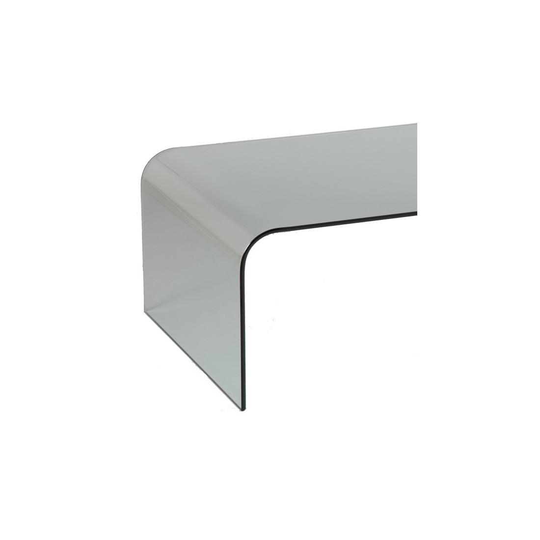 Table basse en verre kwai univers du salon tousmesmeubles - Table basse en verre but ...