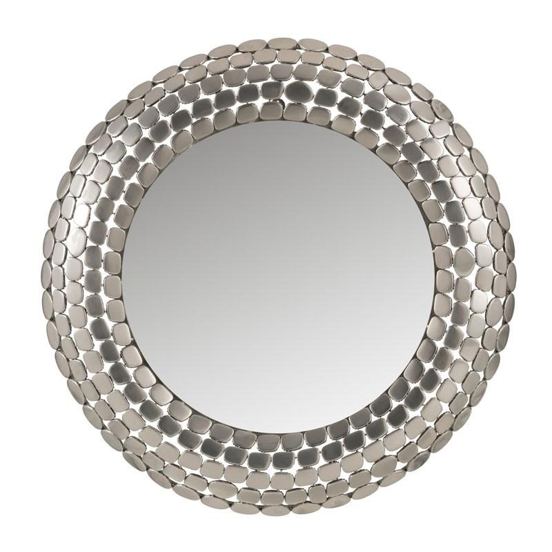 Miroir rond Métal argent - JELLAL