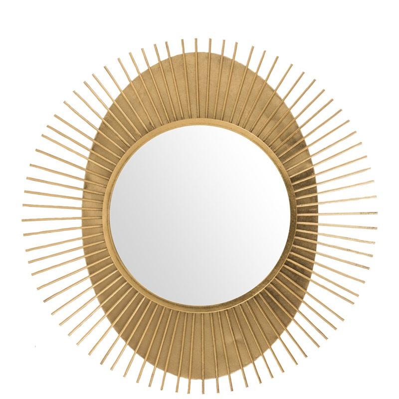 Miroir soleil rond Métal or - MERCY