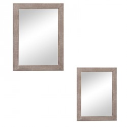 Duo de miroirs rectangulaires Bois naturel - YOLKO