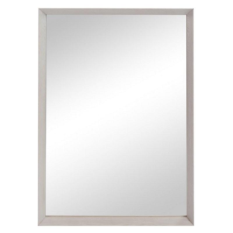 Miroir bord rectangulaire Bois gris - LOLA