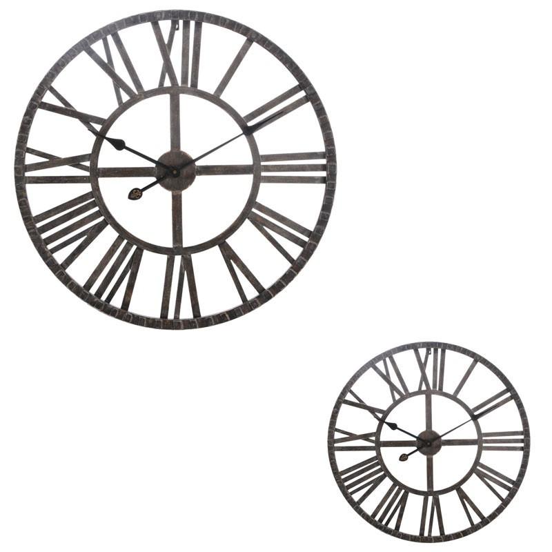 Duo d'horloges rondes Fer marron - DIMARIA