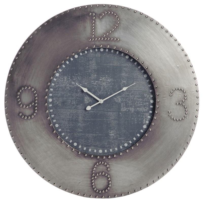 Horloge ronde Métal gris - NOLAN