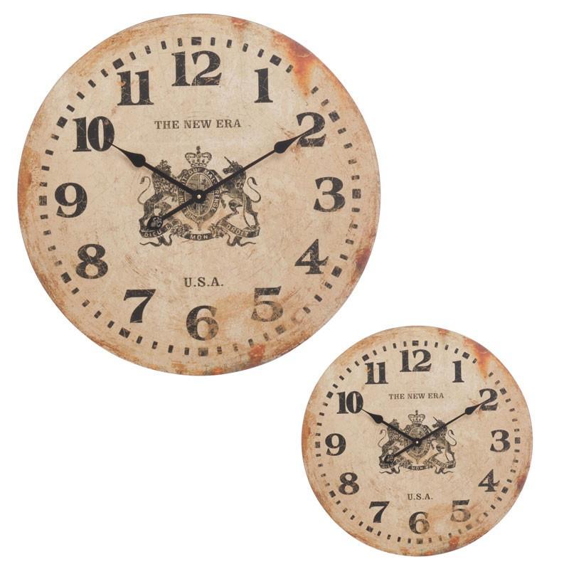 Duo d'horloges Bois beige taille S - CEYLAN