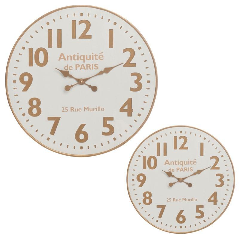 Duo d'horloges rondes Bois blanc taille S - NAEL