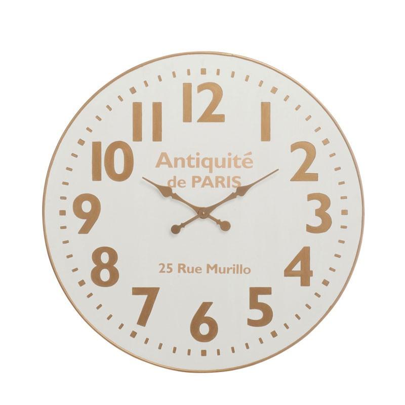 Horloge ronde Bois blanc taille M - NAEL