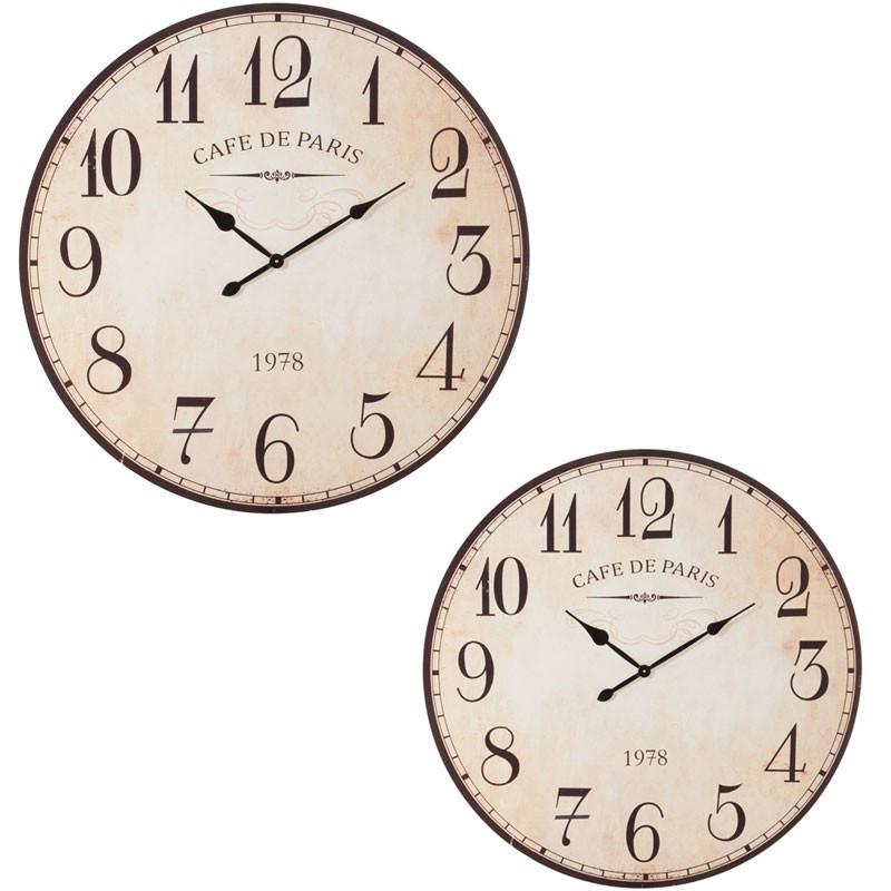 Duo d'horloges rondes Bois ivoire - RAPHAEL