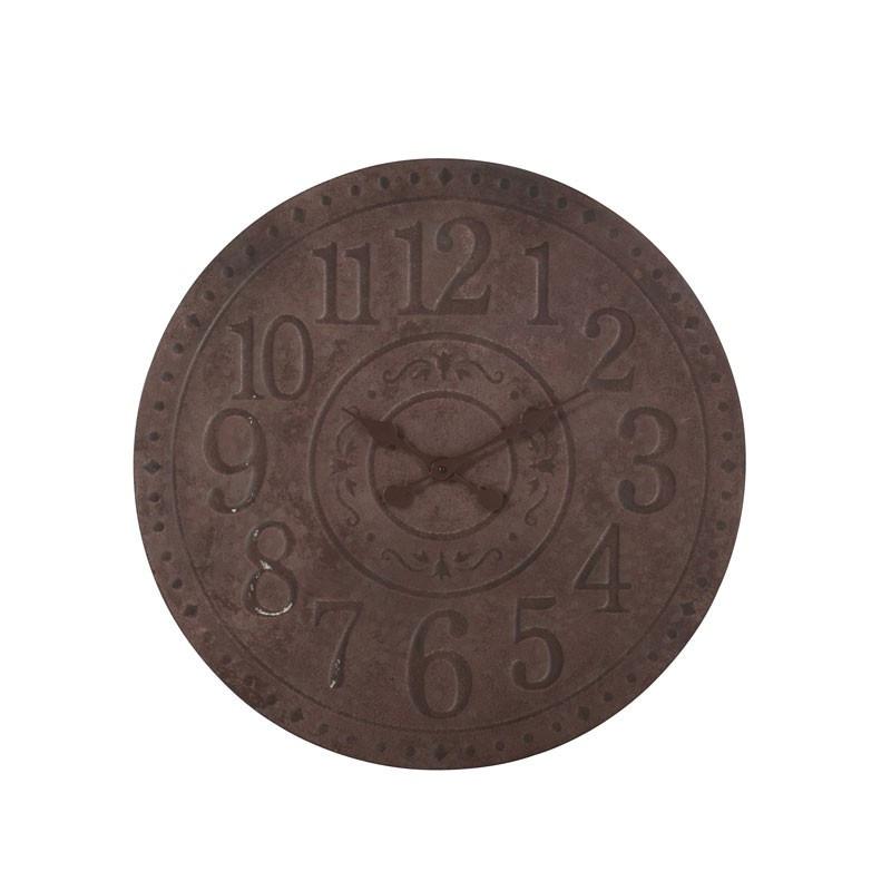 Horloge ronde Métal marron taille M - SAMUEL