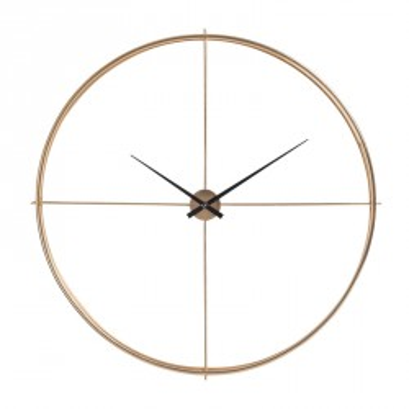 Horloge ronde Métal or - FANTINE