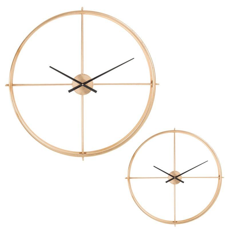 Horloge ronde taille M Métal or - FANTINE
