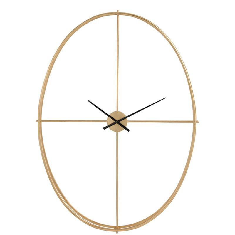 Horloge ovale taille S Métal or - FANTINE
