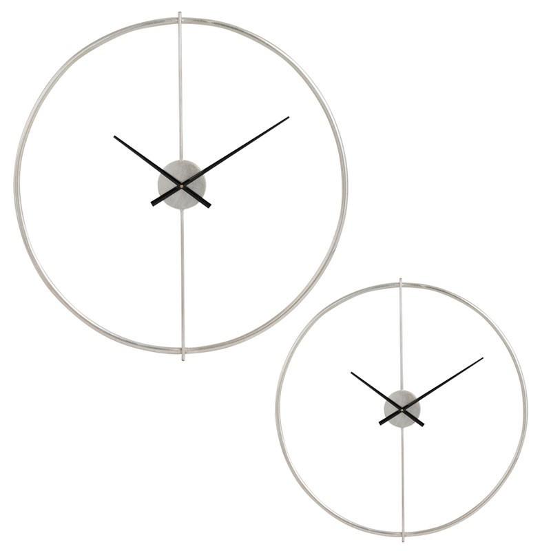 Duo d'horloges rondes taille S Métal argent - FANTINE