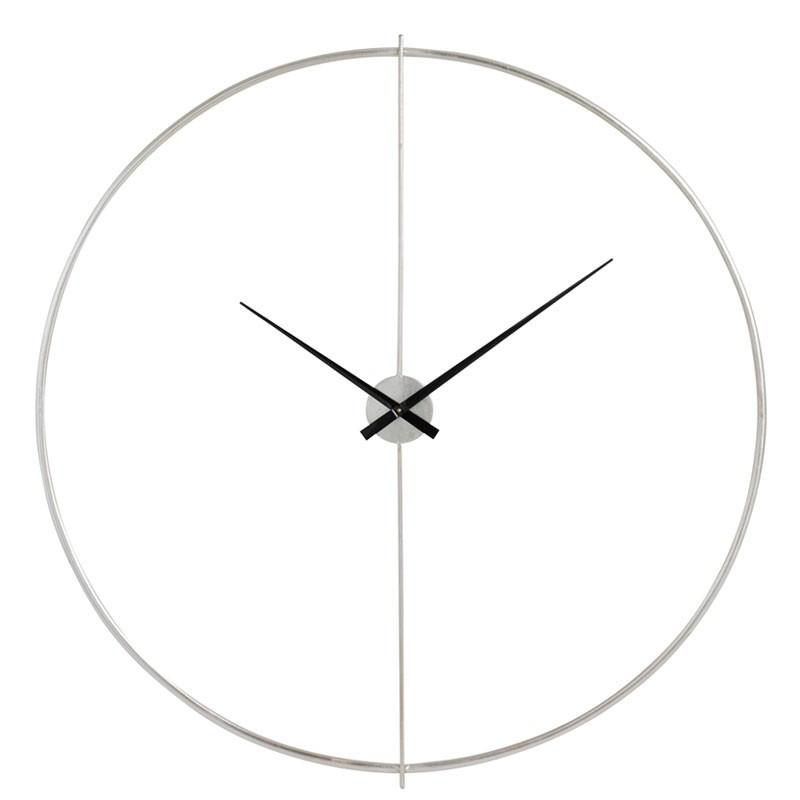 Horloge ronde taille M Métal argent - FANTINE